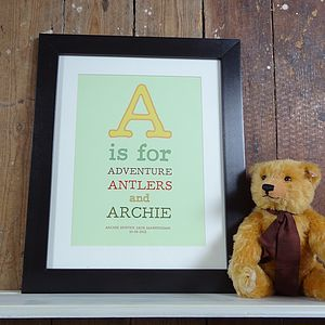 Personalised Child's Letter Print