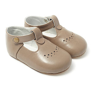 Alfonso Taupe Shoes - baby & child