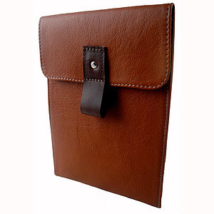 Tan Leather Case For iPad Mini - tech accessories for her