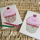 Personalised Cupcake Embroidered Notebook