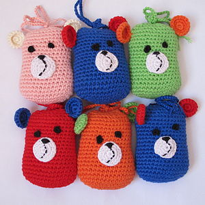 Handmade Potato Bear Rattle - rattles & teethers