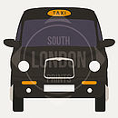 London Taxi Digital Print