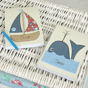Personalised Sea Embroidered Notepad - stationery & creative activities