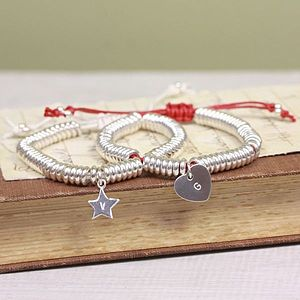 Silver Links Friendship Bracelet With Initial - bracelets & bangles