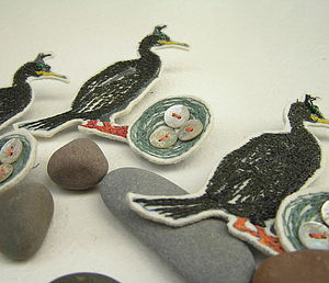 Broody Shag Brooch - pins & brooches