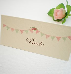 Personalised Place Cards - wedding stationery
