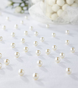 Ivory Table Pearls Confetti Wedding Decor - petals & confetti