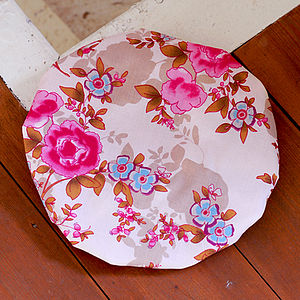 Floral Print Cotton Bath Hats