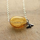 Spring Honey Bee Silver Necklace