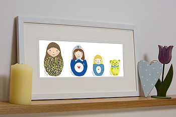 Personalised Deluxe Russian Doll Family Print