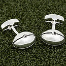Silver Plated Rugby Ball Cufflinks