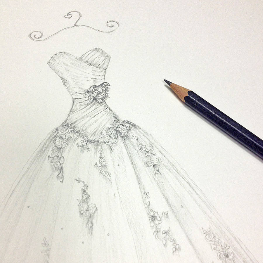 Dress Pencil Drawing