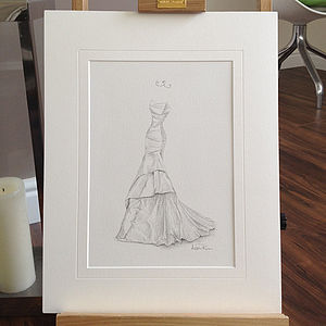 Pencil Wedding Dress Portrait