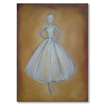 Wedding Dress Portrait Oil Painting