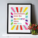 Somewhere Over The Rainbow - Personalised Art