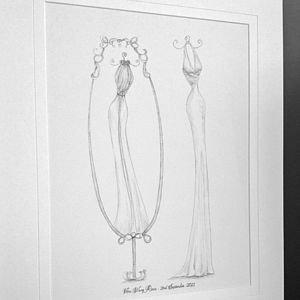 Double View Wedding Dress Portrait