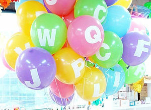 Personalised Alphabet Balloons - party decorations