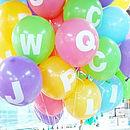 Personalised Alphabet Balloons