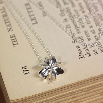 Lucky Silver Clover Necklace