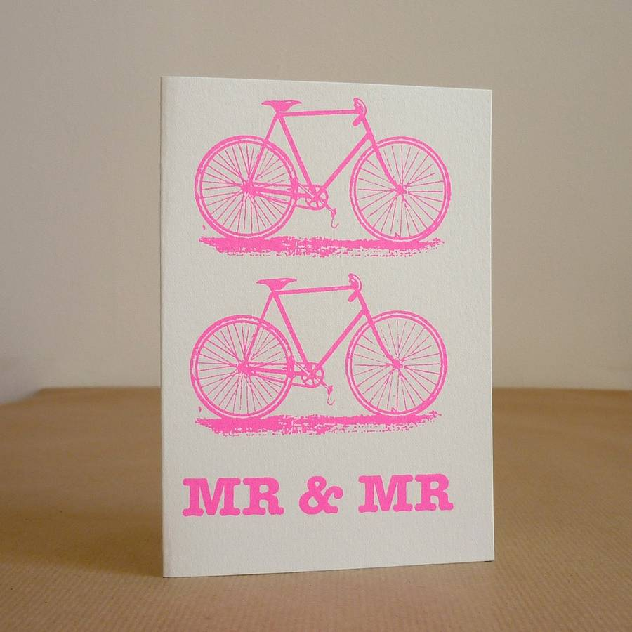 Bicycle Wedding Card By Mr Ps Notonthehighstreet Com