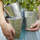Set Of Three Numbered Flower Pots