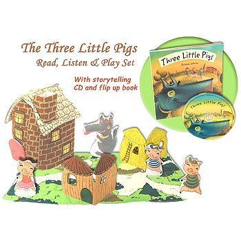 Three Little Pigs Book, CD And Play Set