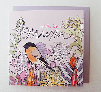 'Ginger Flower' Mother's Day Card