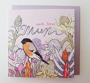 'Ginger Flower' Birthday Card