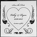 Deco Heart Save The Date Card