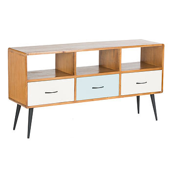50s Style Three Drawer Sideboard