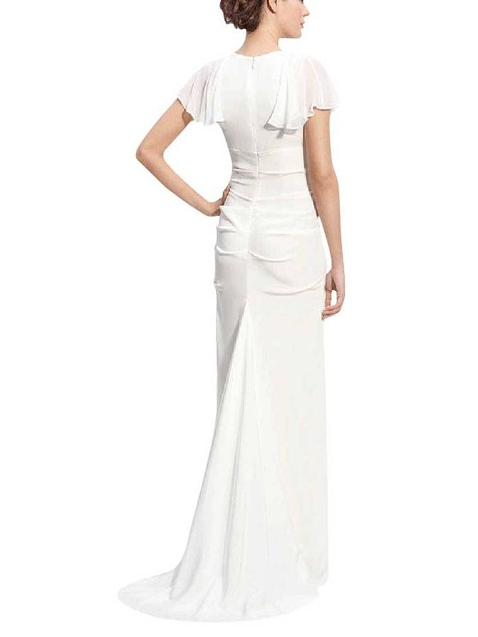 Sheath Wedding Dresses London : Sheath a line wedding dress in chiffon by elliot claire london