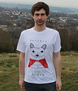 Organic Men's 'Bernard The Brave' T Shirt
