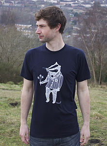 Organic Men's 'Bob The Badger' T Shirt