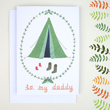 'To My Daddy' Father's Day Camping Card