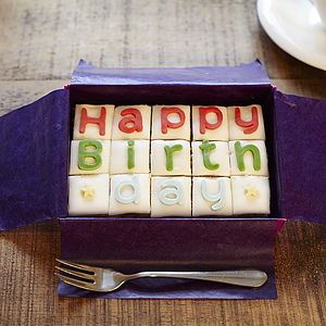 Happy Birthday Letterbox Cake - sweet treats