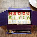 Happy Birthday Letterbox Cake