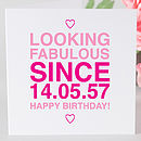 Personalised Birthday Girl 'Since' Card