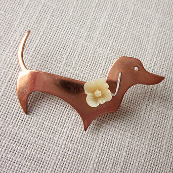 Buttercup The Dachshund Brooch