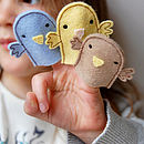 Felt Bird Finger Puppet Sewing Kit