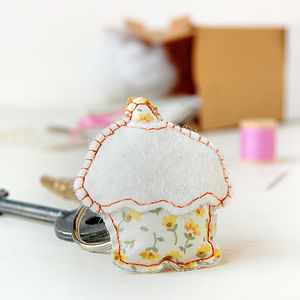 Make Your Own Cupcake Keyring Craft Kit - sewing & knitting