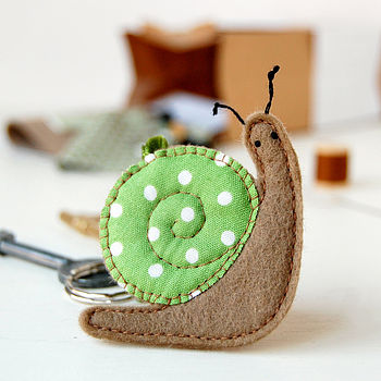 Make Your Own Snail Keyring Craft Kit