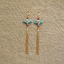 Elise Fan Earrings
