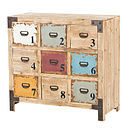 Nine Drawer Distressed Painted Cabinet