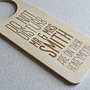 Personalised Honeymoon Door Hanger