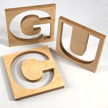 Cut Out Birch Ply Letters