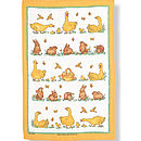 Spring Fever Linen Tea Towel
