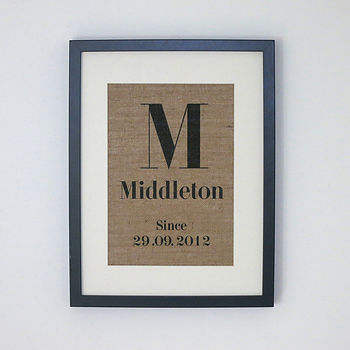 Personalised Family Wall Decor
