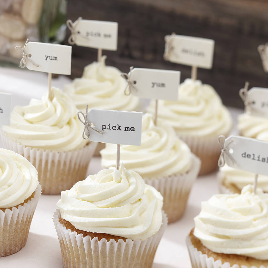 Hand Tied Vintage Style Cupcake Decorations By Ginger Ray
