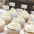 Hand Tied Vintage Style Cupcake Decorations