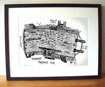 Limited Edition Thames Jubilee Pageant Print